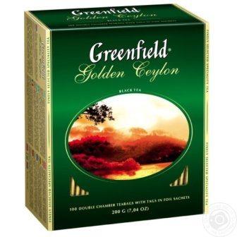 Гринфилд Голден Цейлон черный 100*2г/9 Чай