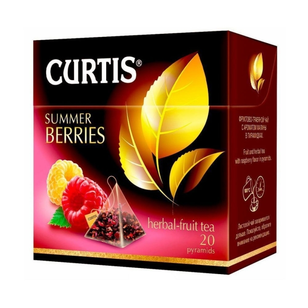 чай Curtis Summer Berries Tea, пирам 20*1,7г/12