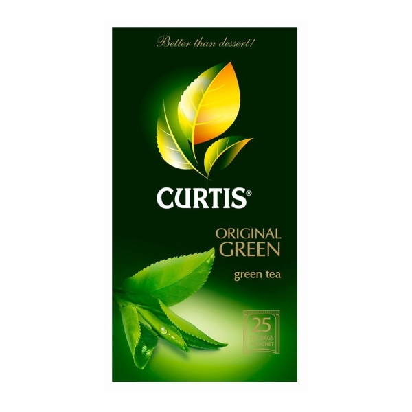 чай Curtis Original Green Tea, 25*2г/12