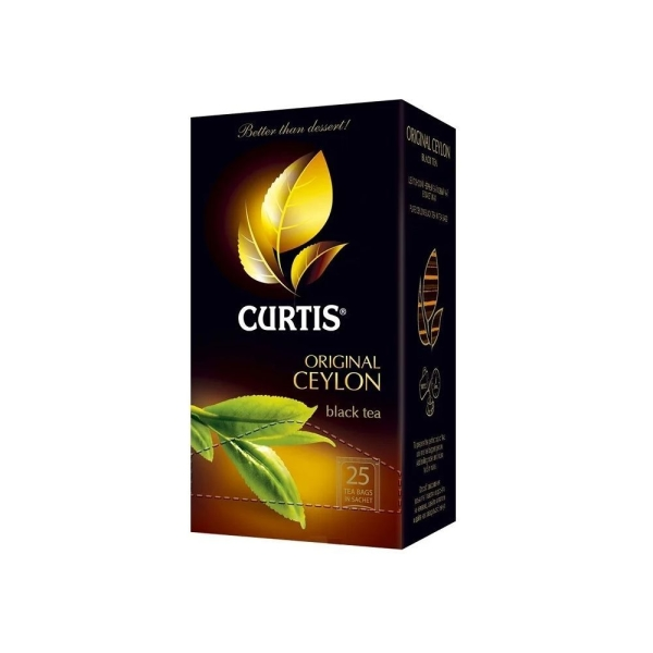 чай Curtis Original Ceylon Tea, 25*2г/12