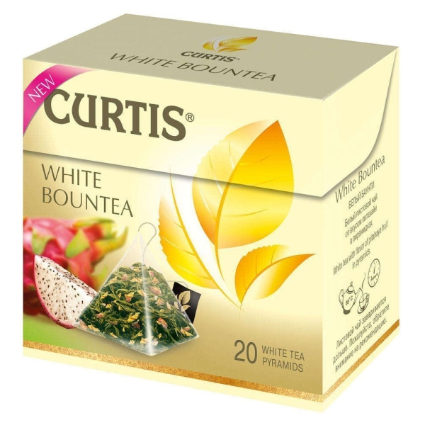 чай Curtis White Bountea, пирам 20*1,7г/12